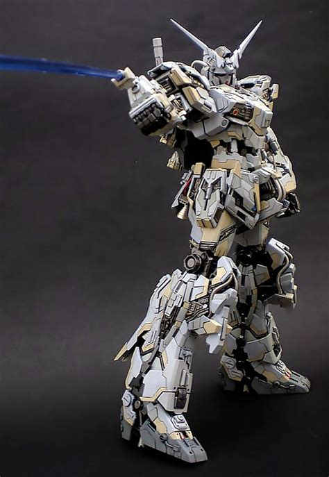 Kaos Gundam Unicorn Model 1 gundam mg 1 100 unicorn gundam customized build mostly gundams maquettes