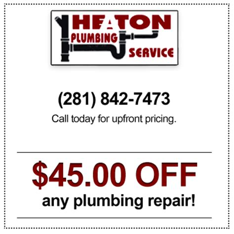 Plumb Discount Code by Plumbing Discounts Houston Tx Plumbers Special Offers