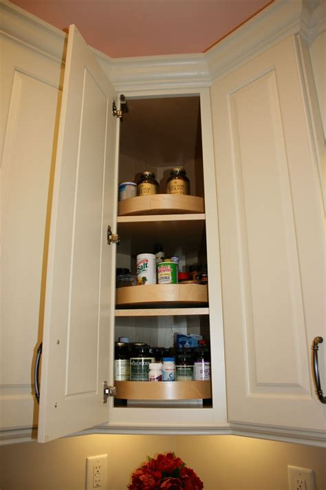 adding a lazy susan in a corner cabinet wood lazy susan in a diagonal corner wall cabinet