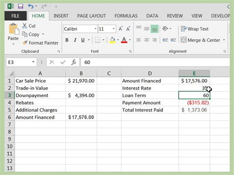 How To Find On How To Calculate A Car Loan In Excel 10 Steps With Pictures