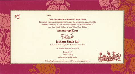 Hindu Wedding Cards Templates In by Indian Wedding Invitation Wording Template Shaadi Bazaar