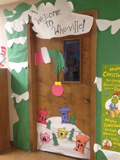 how the grinch stole door decorating ideas grinch classroom door grinch whoville classroom