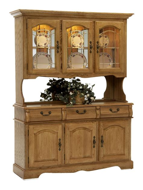 classic oak 60 quot china hutch with three half doors with
