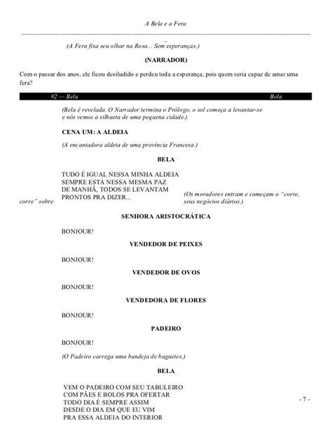 A bela e a fera libretto brasileiro