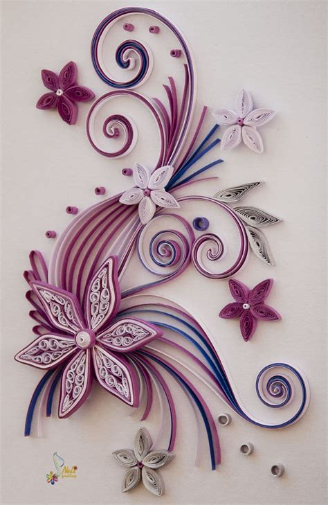 Flowers With Gift Card - neli quilling art quilling cards flowers