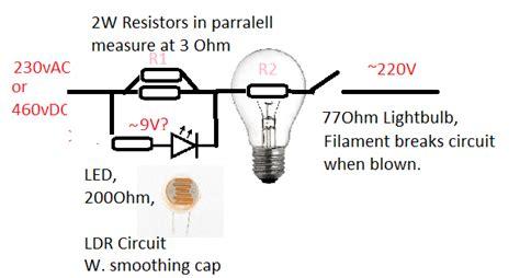 led resistor for 230v current 230v ac 460v dc optocoupler using led and voltage divider electrical engineering