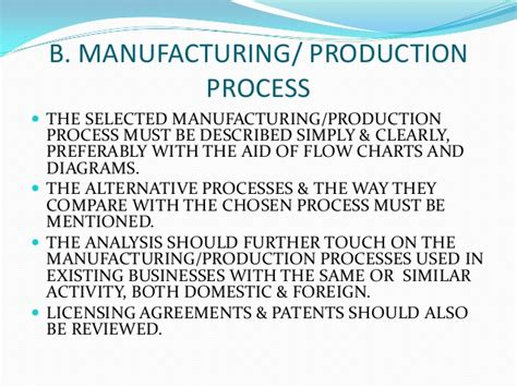 manufacturing feasibility study template choice image