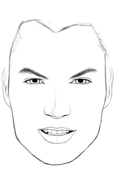 human face outline sketch templates