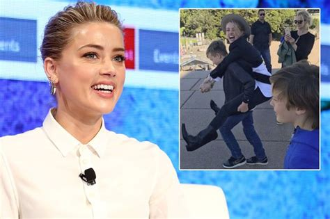 elon musk kids amber heard gets seal of approval from elon musk s