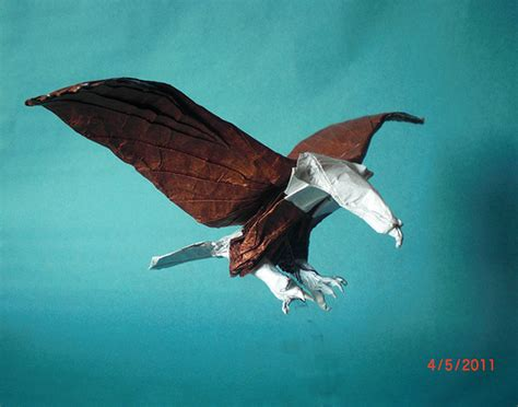 3d Origami Eagle - how to make a 3d origami snail for intermediate origami