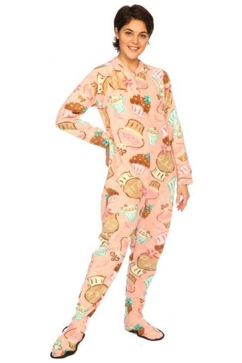 Muffin Piyama Cotton Pajamas cupcake swirl footed pajama original footie