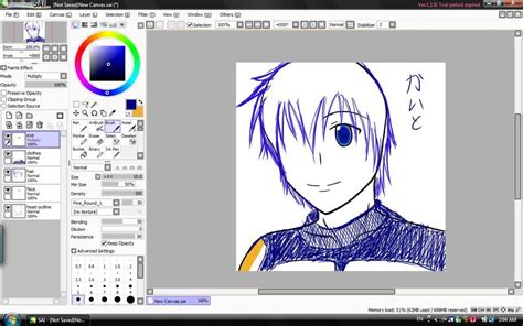 how to paint tool sai on android tablet vocaloid kaito tablet sai draw by chugoku jinko on deviantart