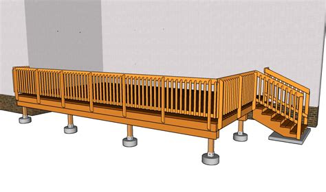 deck plans simple deck plans diy free plans coop shed playhouse