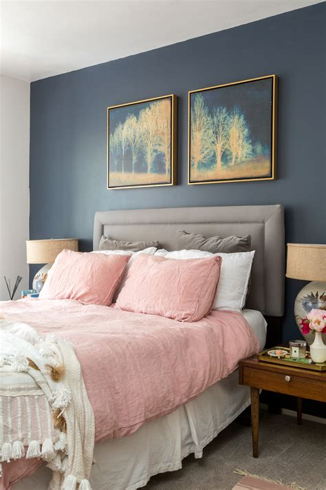 Navy Pink Bedroom by Boho Chic Navy And Pink Bedroom A Vintage Splendor At Home