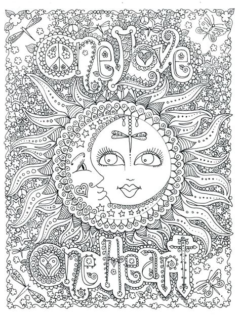 coloring pages adults zen icolor quot the moon stars quot one love icolor quot the moon