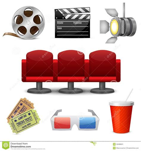 Icon Cinema Gift Card - cinema entertainment decorative icons stock vector image 39488691