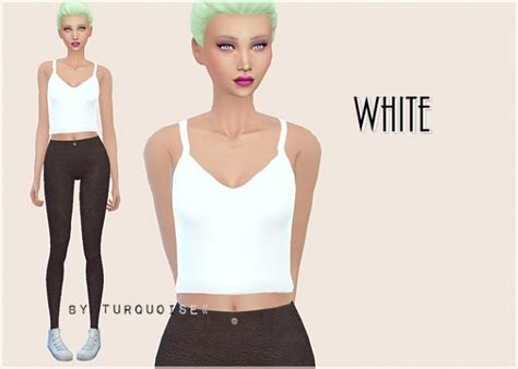Crop Top Blouse Cc crop tops collection by turquoise at sims fans 187 sims 4