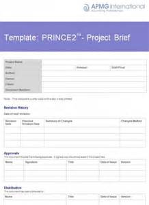 prince2 174 project brief template apmg business books