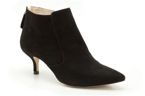 heeled boots black suede kitten heel boots mad heel
