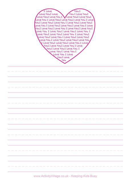 printable lined heart paper 6 best images of free printable pretty paper pretty free