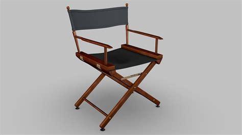 high quality directors chairs director chair 3d model obj 3ds fbx c4d dxf