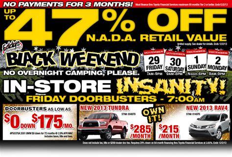 Toyota Black Friday Deals Wichita Toyota Black Friday Specials New Vehicle
