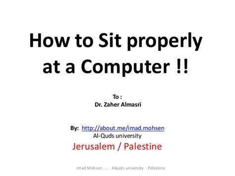 how to a properly how to sit properly at a computer