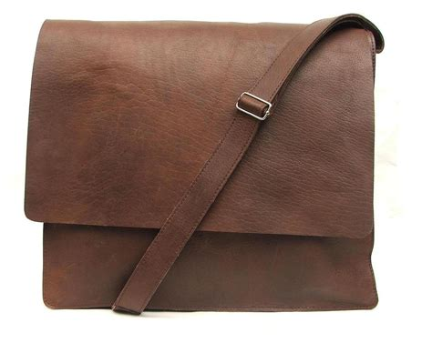 Handmade Leather Satchels - messenger bag for mens unisex brown leather by abizema