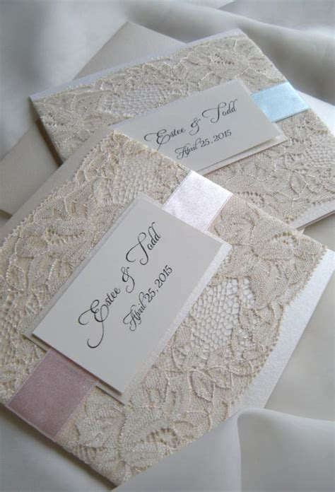 Wedding Invitations With Lace by Lace Wedding Invitations 2266132 Weddbook