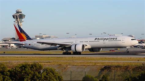 philippine airlines boeing 777 flights philippine airlines inaugural boeing 777 300er rp c7775