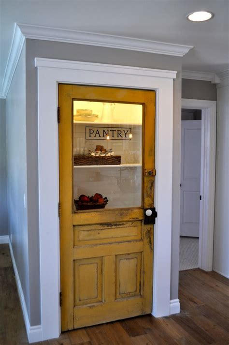 pantry door half glass pantry