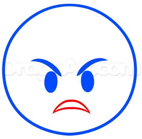 hoe emoji how to draw angry emoji step by step symbols pop