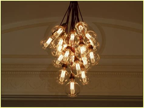 filament light bulb chandelier vintage light bulb chandelier home design ideas