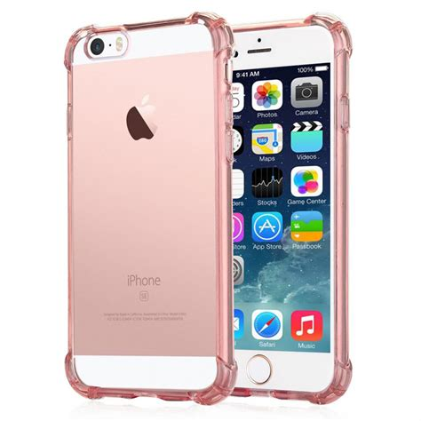 Anti Iphone 5 Gold coque anti chocs silicone gold transparente avec