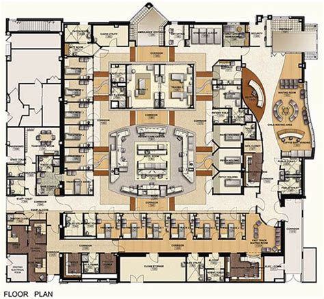 floor plan hospital community pediatric clinic layout google search