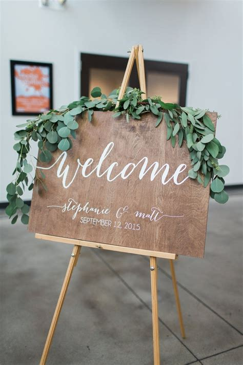 Wedding Welcome Sign by 12 Rustic Wedding Ideas From Etsy