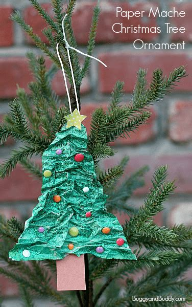 flour and water decorations tree ornament using newspaper and flour buggy and buddy