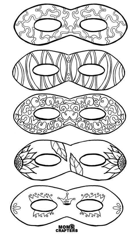 purim mask template purim coloring pages free