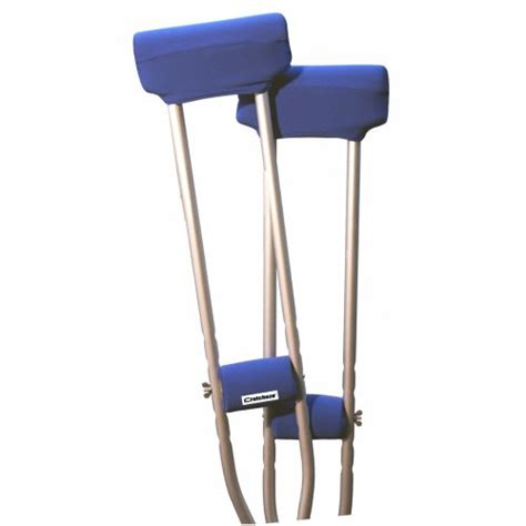 crutches comfortable padding crutcheze royal blue underarm crutch pad and hand grip