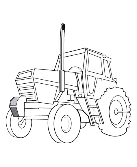 tractor template to print tractor coloring pages for coloring home