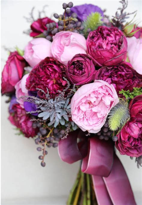 david austin mixed pink bridal bouquet wedding flower availability by month