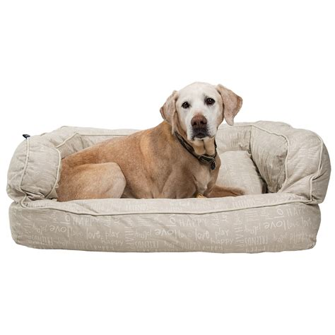 canvas dog bed humane society happy script canvas bolster dog bed xl