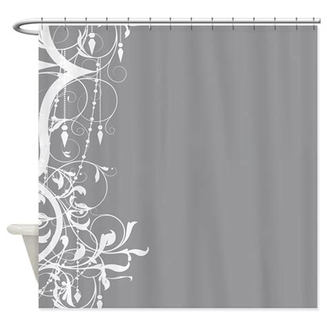 shabby chic grey chandelier shower curtain  theinspirededge