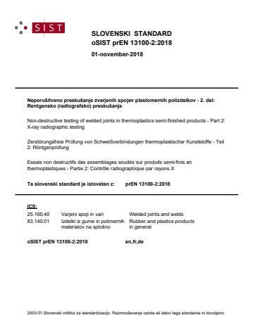 EN 13100-2:2019 - Non-destructive testing of welded joints