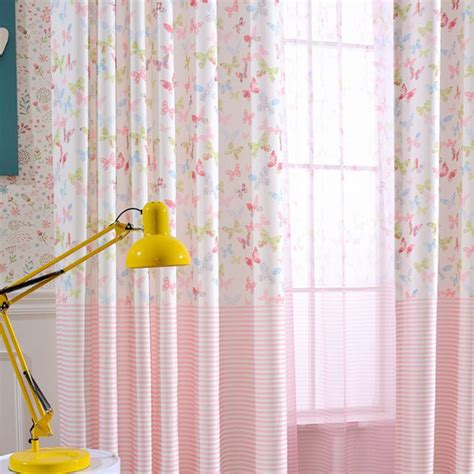 butterfly curtains for kids pink butterfly print velvet cute curtains for kids room