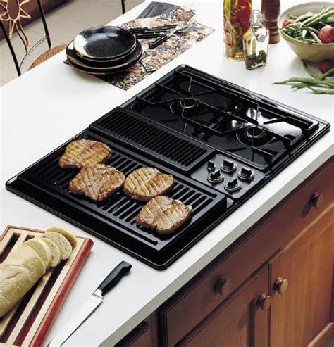 Ge Modular Cooktop Ge Profile 30 Quot Built In Downdraft Modular Gas Cooktop