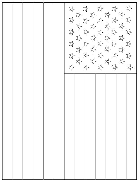 template of the american flag chemistry demonstrations