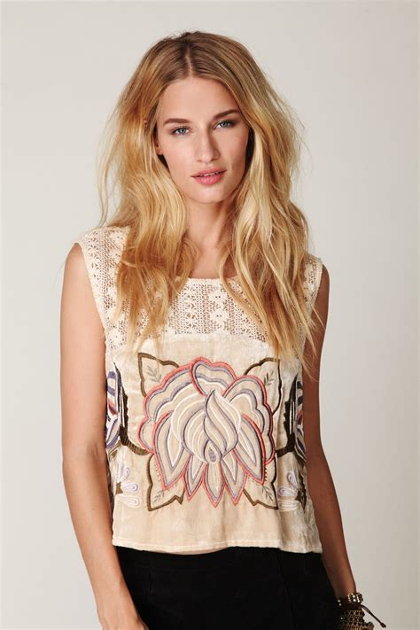 Embroidered Velvet Top embroidered velvet top at free clothing boutique