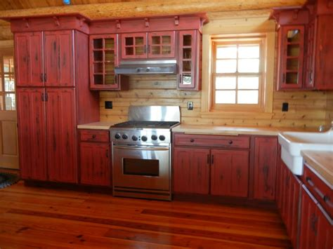 red kitchen paint ideas rustic painted kitchen cabinets rapflava
