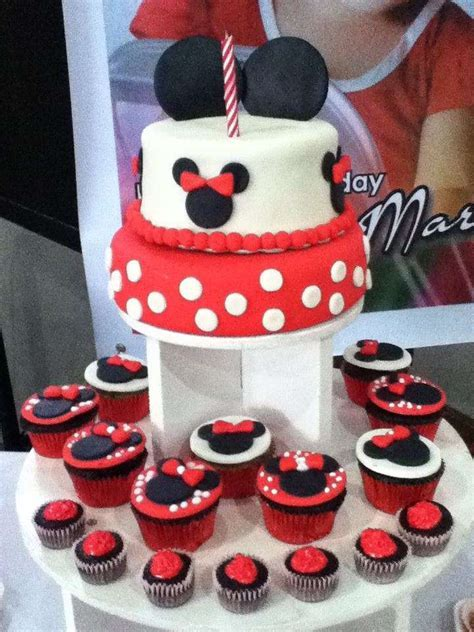 Minnie Mouse Pastry Buffet Birthday Party Ideas   Photo 1